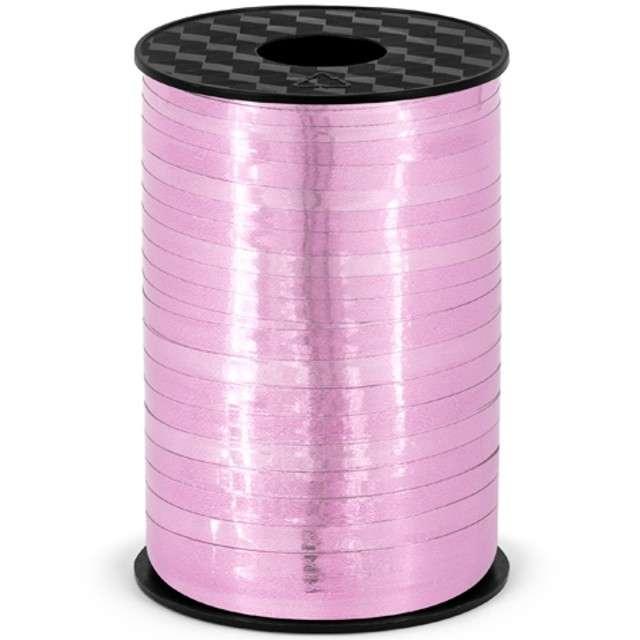 Wstążka do balonów, metalic, różowa, 0,5 cm x 225 m
