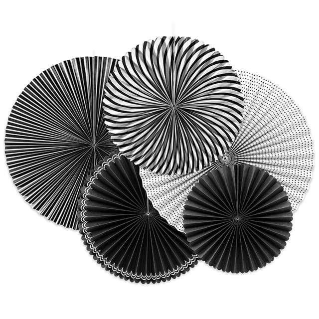 """Rozeta wisząca """"Black & White"""", 5 szt"""