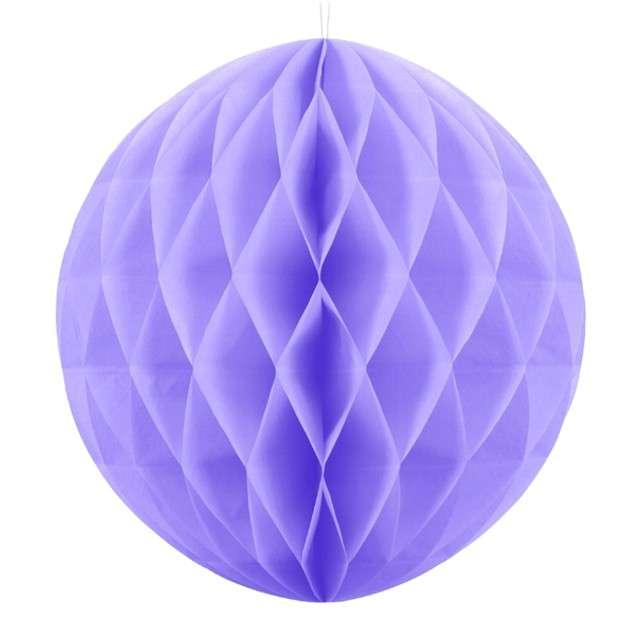 Kula bibułowa, liliowa, 40 cm