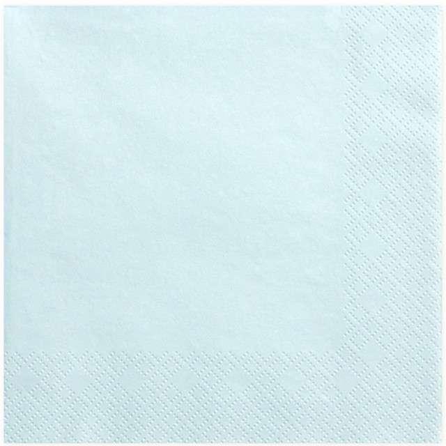 """Serwetki """"Lunch Classic"""", błękitne jasne, 33 cm, 20 szt"""