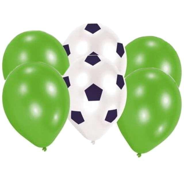 """Balony """"Piłkarskie - Kicker Party"""", pastel mix, AMSCAN, 9"""", 6 szt"""