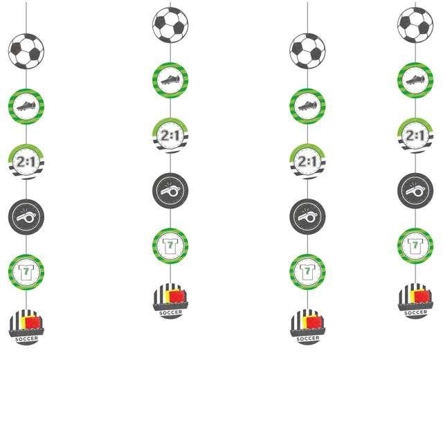"""Dekoracja wisząca """"Piłka Nożna - Kicker Party"""", AMSCAN, 4 x 1,3 m"""
