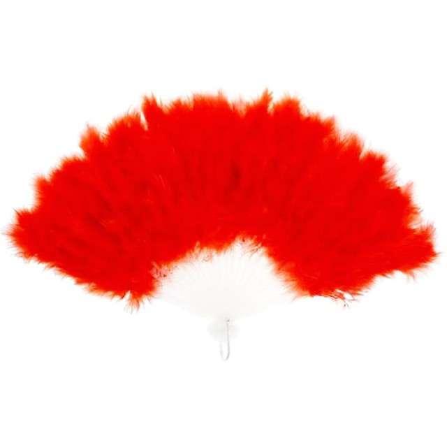 """Wachlarz """"Pióra"""", czerwony, PartyTino"""
