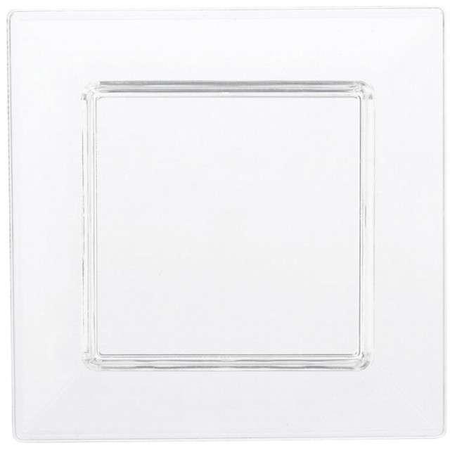 """Talerzyki plastikowe """"Mini do Zakąsek"""", transparentne, 7,5 cm, 40 szt"""