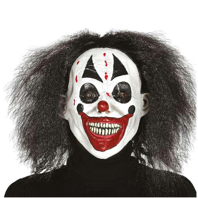 """Maska """"Straszny Klaun z włosami"""", GUIRCA"""