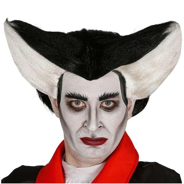 "Peruka party ""Wampir Drakula"", GUIRCA, czarno-biały"