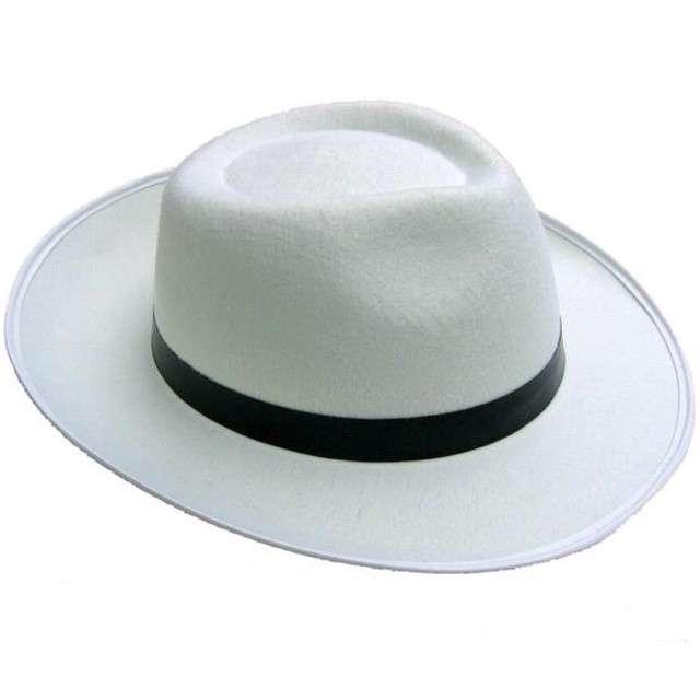 """Kapelusz """"Al Capone"""", biały, PartyTino"""