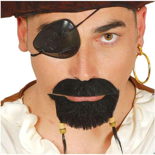 """Wąsy party """"Wąsy i broda Pirata"""", czarny, GUIRCA"""