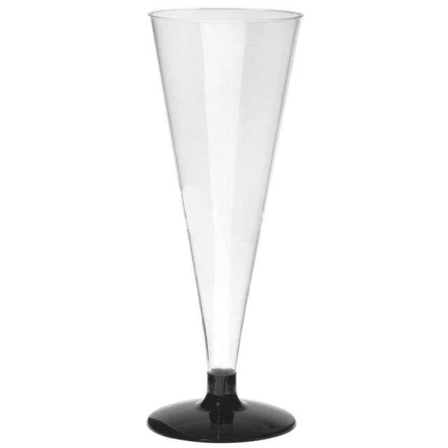 """Zestaw """"Kieliszki do szampana"""", czarne, ARPEX, 150 ml, 4 szt"""