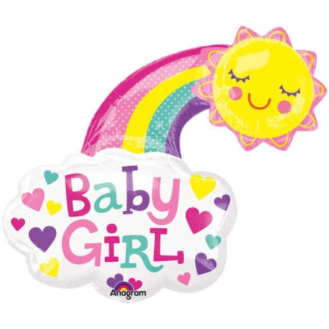 """Balon foliowy """"Baby Girl - Słoneczko"""", AMSCAN,  30"""" SHP"""