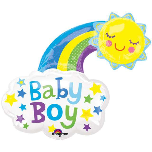 """Balon foliowy """"Baby Boy - Słoneczko"""", AMSCAN,  30"""" SHP"""