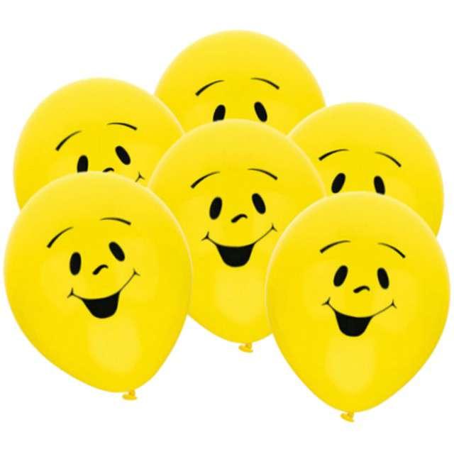 """Balony 9"""", """"Uśmiechy"""", AMSCAN, MIX, 6 szt"""