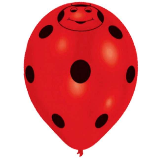 """Balony 10, """"Biedronki"""", Pastel, AMSCAN, czerwone, 8 szt"""