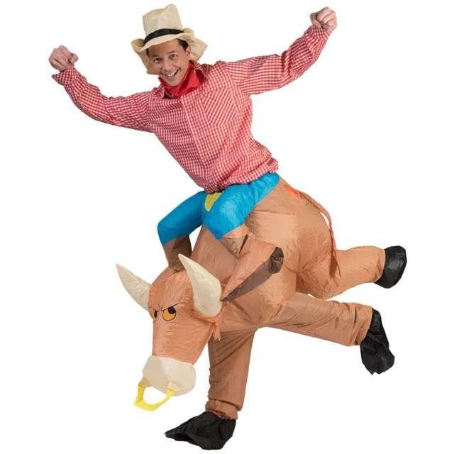 """Strój dla dorosłych """"Kowboj na byku"""", FunnyFashion, nadmuchiwany, rozm. uniw."""