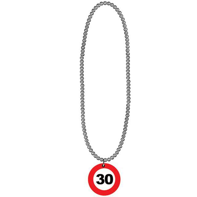 "Naszyjnik ""30 Traffic Birthday"", FunnyFashion, 80 cm"