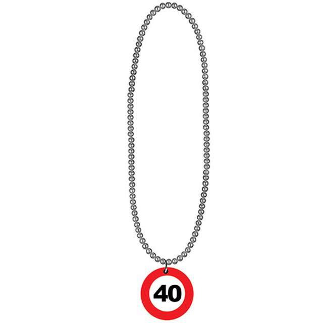"Naszyjnik ""40 Traffic Birthday"", FunnyFashion, 80 cm"