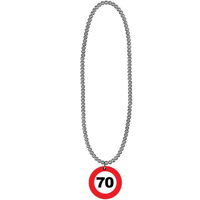 """Naszyjnik """"70 Traffic Birthday"""", FunnyFashion, 80 cm"""