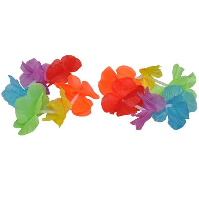 """Opaska na rękę """"Hawajskie Kwiaty Rainbow"""", FunnyFashion, 2 szt"""