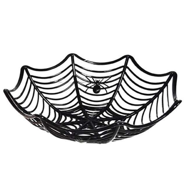 """Miska """"Pajęczyna - Halloween"""", czarna, FunnyFashion, 27 cm"""