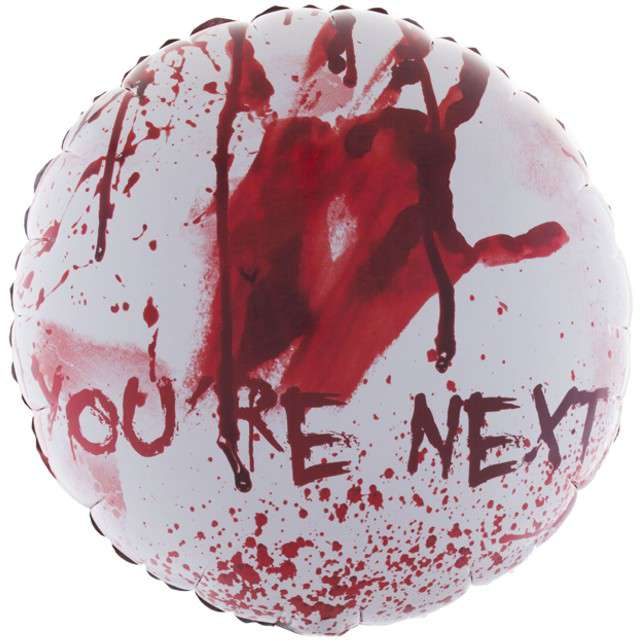"Balon foliowy ""You are next - krwawe ślady"", Funny Fashion, 18"" RND"