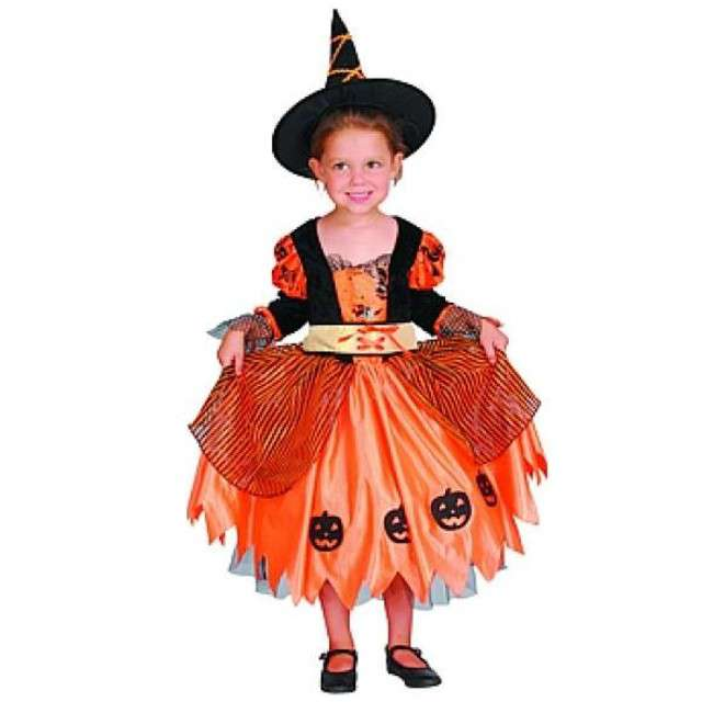 """Strój dla dzieci """"Czarownica w dyniowej sukience"""", PartyTino, 98-104 cm"""