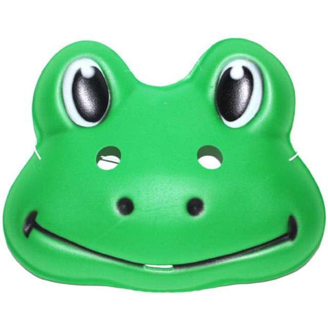 "Maska ""Żabka"", zielona, plastikowa, FunnyFashion"