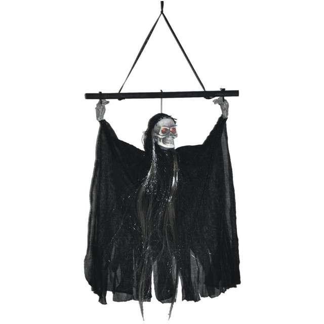 Dekoracja Duch z czaszką czarny FunnyFashion