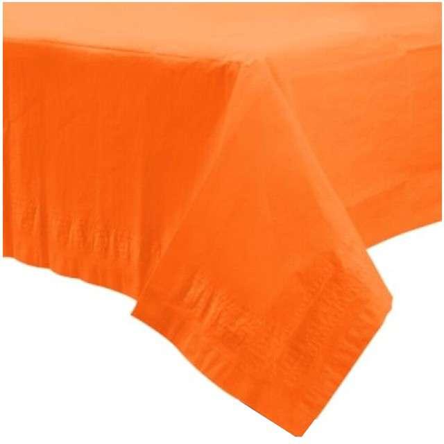"""Obrus papierowy """"Premium"""", pomarańczowy, AMSCAN, 274 x 137 cm"""