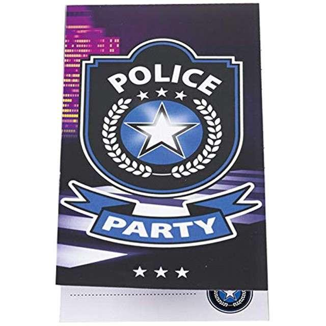 """Zaproszenia urodzinowe """"Policja"""", AMSCAN, 8 szt"""