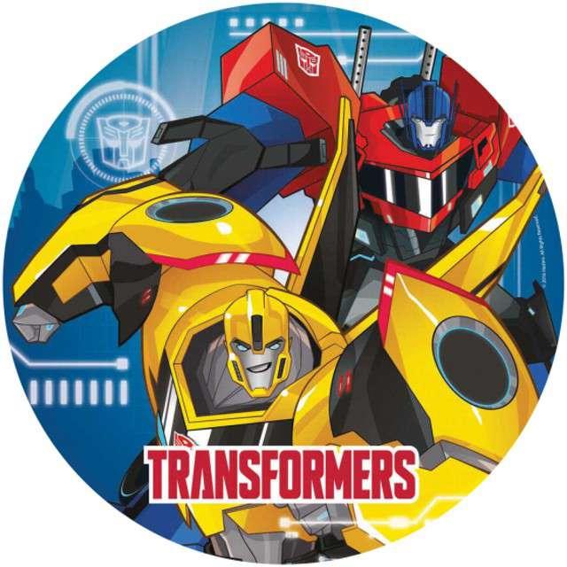 """Talerzyki papierowe """"Transformers RID"""", AMSCAN, 23 cm, 8 szt"""