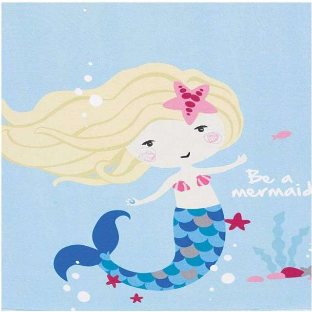 "Serwetki ""Syrenka - Be a Mermaid"", AMSCAN, 33 cm, 20 szt"