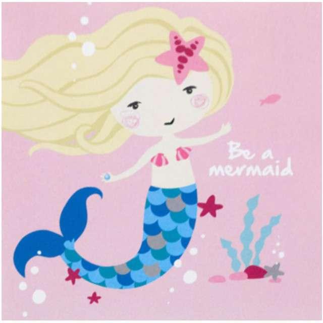 "Serwetki ""Syrenka - Be a Mermaid"", AMSCAN, 25 cm, 20 szt"
