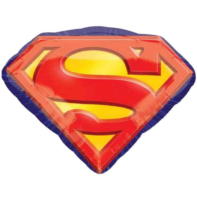 """Balon foliowy """"Znak Superman"""", AMSCAN, 26"""" SHP"""