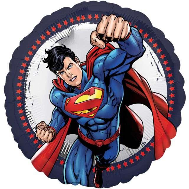 "Balon foliowy ""Superman"", AMSCAN, 17"" RND"