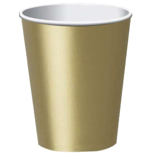 """Kubeczki papierowe """"Classic XL"""", złote, FOLAT, 350 ml, 8 szt"""