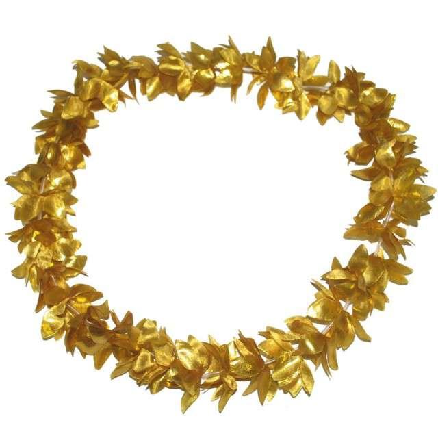 """Naszyjnik hawajski """"Kwiaty"""", złoty, FunnyFashion, 100 cm"""
