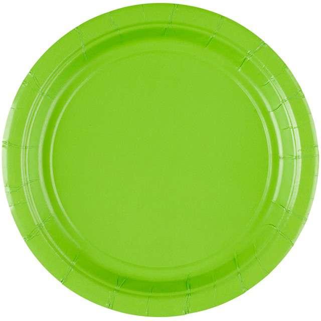 """Talerzyki papierowe """"Premium AMSCAN S - jumbo pack"""", zielone jabłuszko, 18 cm, 20 szt"""