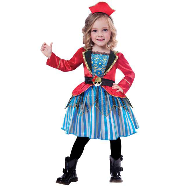 """Strój dla dzieci """"Piratka"""", AMSCAN, rozm. na wiek 3-4 lata"""
