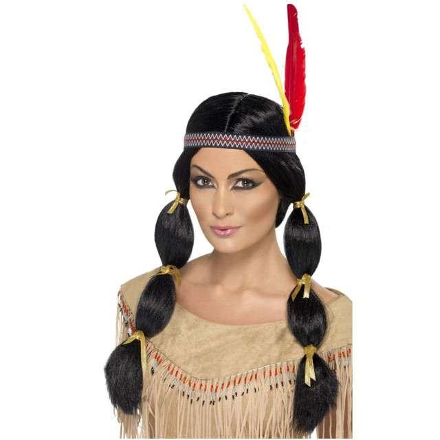 """Peruka party """"Amerykańska Indianka z warkoczykami"""", SMIFFYS"""