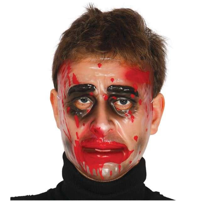 "Maska ""Zakrawawiona Twarz - transparentna"", GUIRCA"