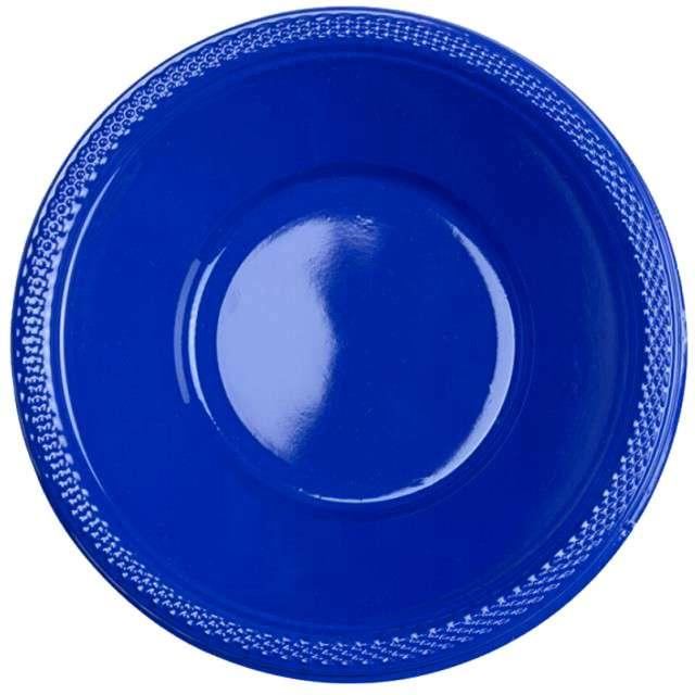 "Miska plastikowa ""Diamond - jumbo pack"", niebieska, 355 ml, 20 szt"