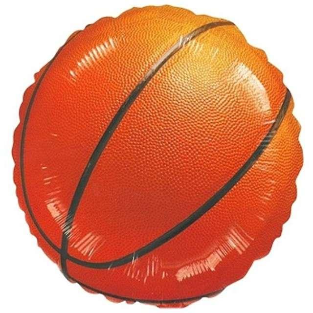 """Balon foliowy """"Koszykówka - piłka"""", pomarańczowa, AMSCAN, 17"""" RND"""