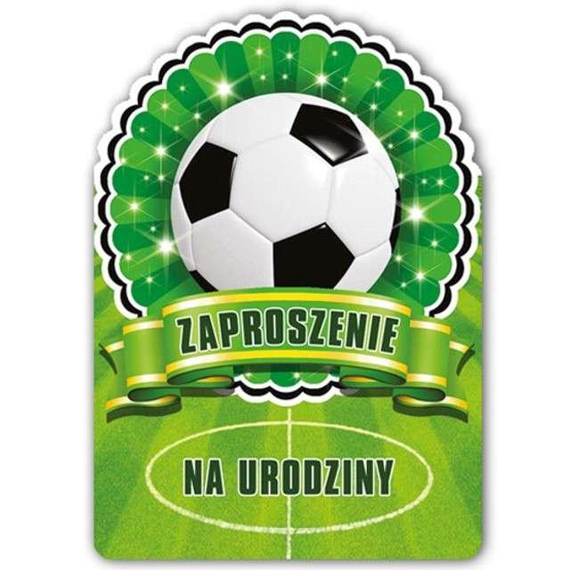 """Zaproszenia urodzinowe """"Piłkarskie"""", 10 szt"""