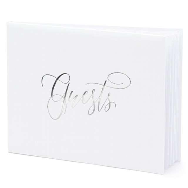 """Księga Gości """"Guests"""", PartyDeco, 24 x 18,5 cm, 22 kartki"""