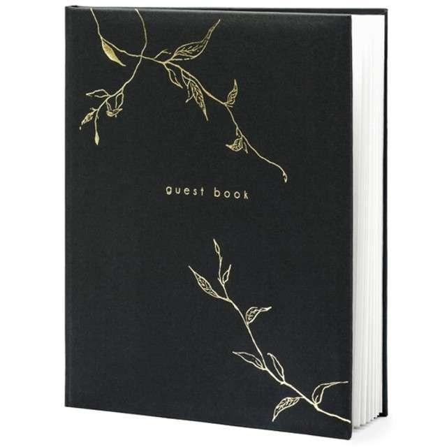 """Księga Gości """"Guest Book"""", PartyDeco, 20 x 24,5 cm, 22 kartki"""
