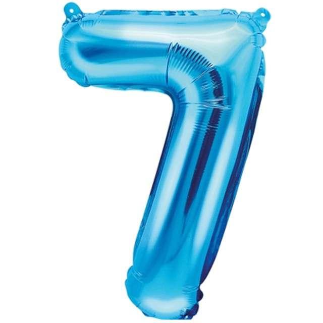 """Balon foliowy cyfra 7, 14"""", PartyDeco, niebieski"""