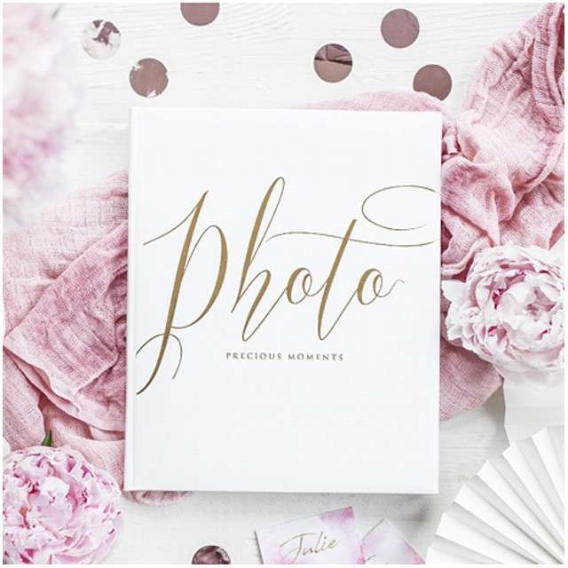 Album na zdjęcia Precious Moments PartyDeco 20 x 245 cm biały 22 kartki