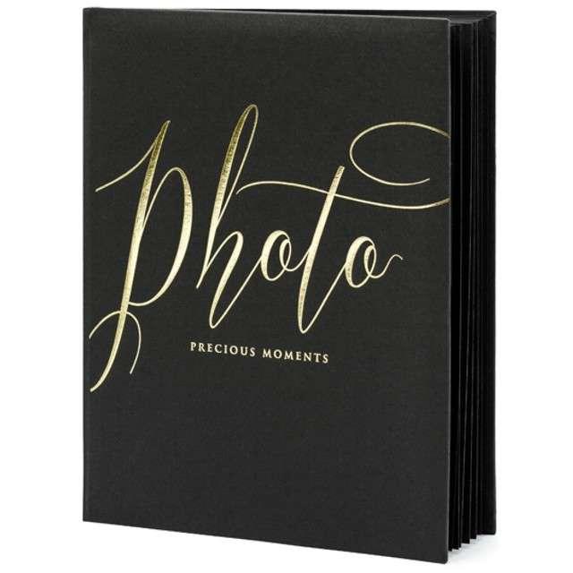Album na zdjęcia Precious Moments PartyDeco 20 x 245cm czarny 22 kartki