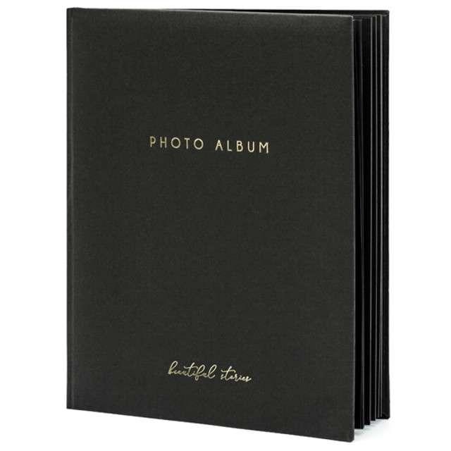 Album na zdjęcia Beautiful Stories PartyDeco 20 x 245cm czarny 22 kartki