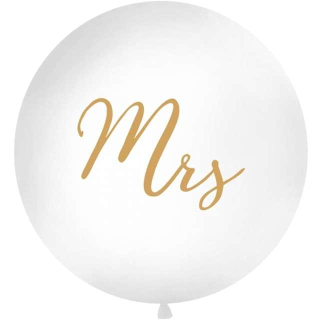 Balon Mrs biały 1 metr Partydeco